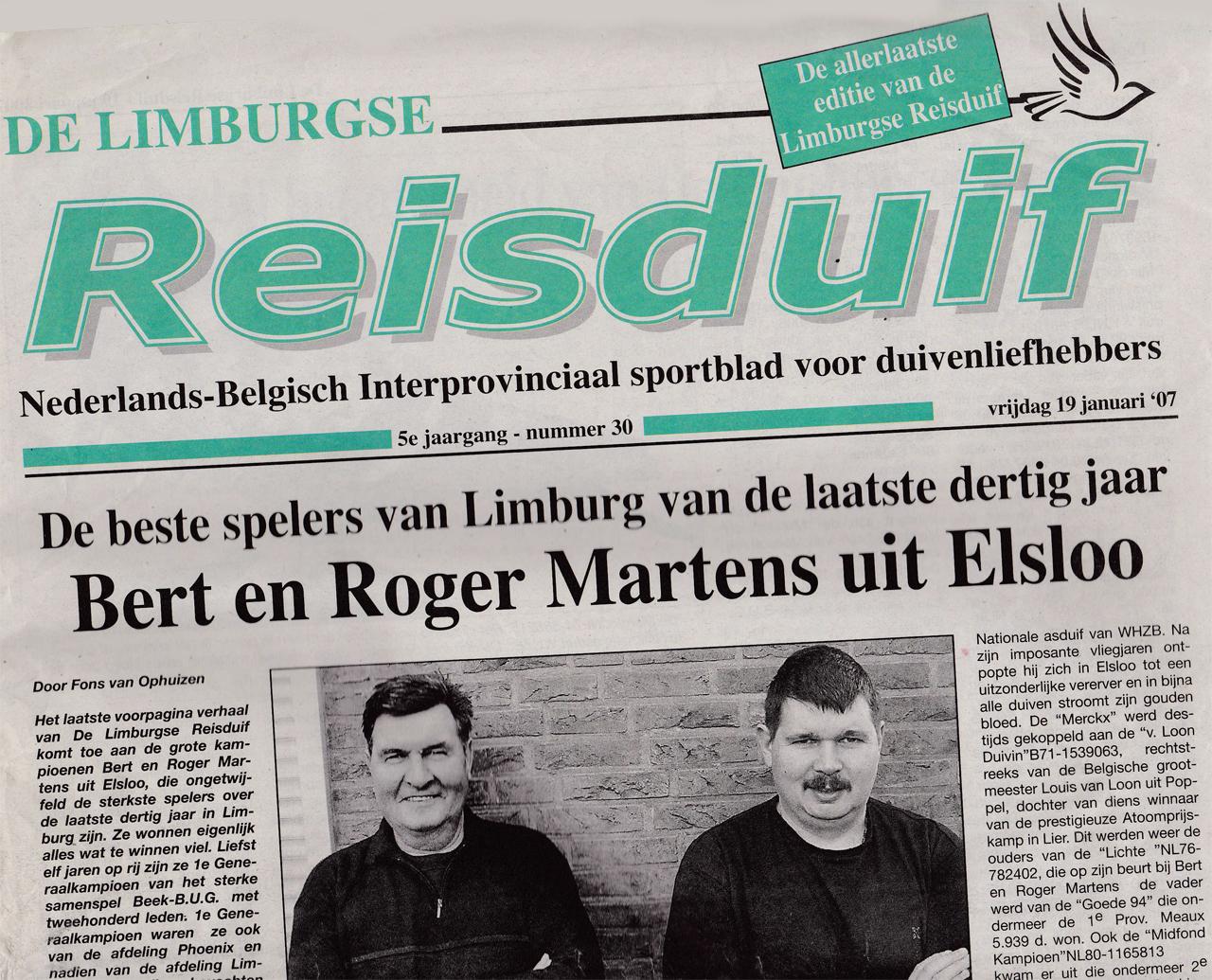 2007 - De Limburgse Reisduif