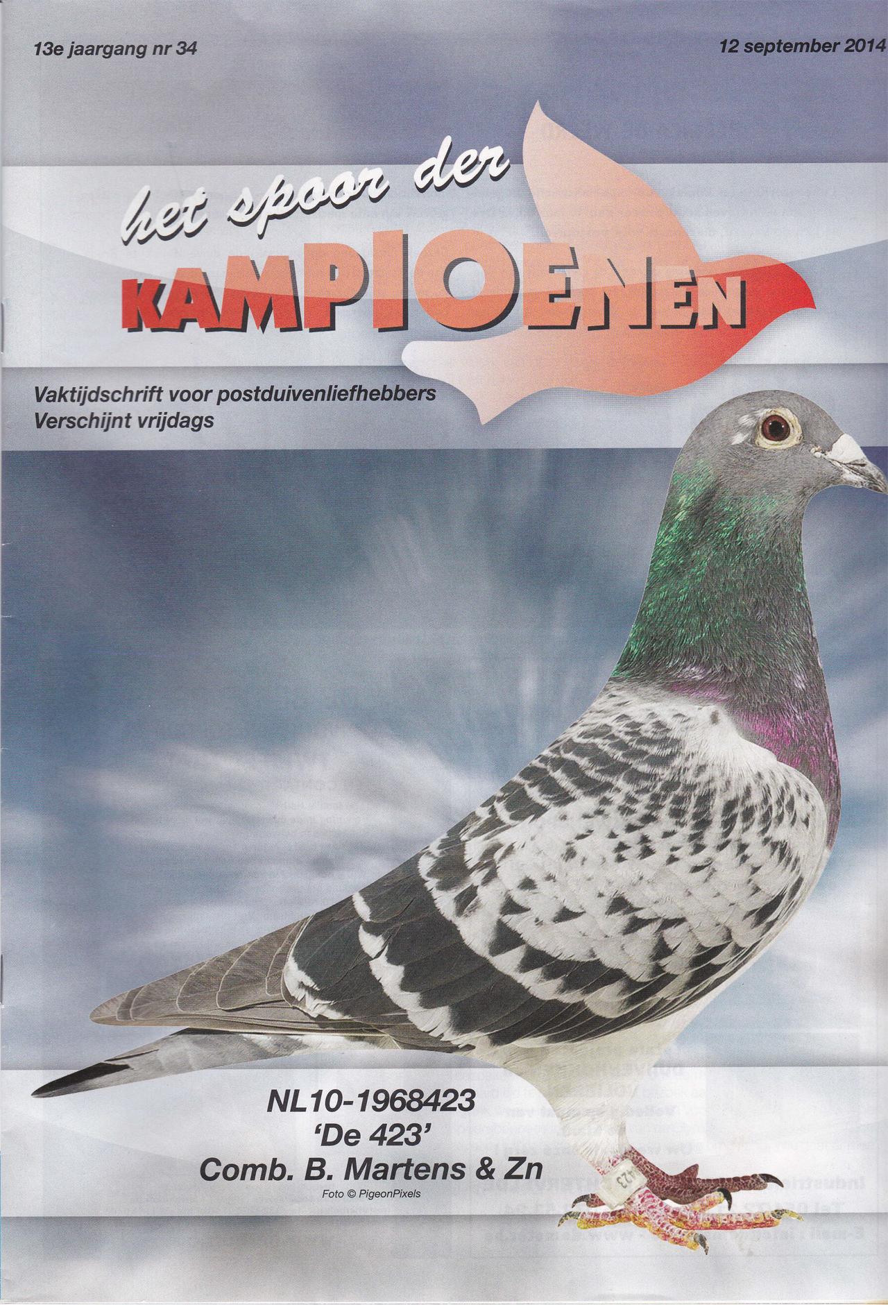 2014 - Spoor der Kampioenen Cover - de 423